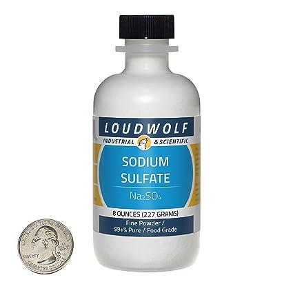 Amazon.com: Sulfato de sodio +/polvo fino/8 oz/99% puras ...