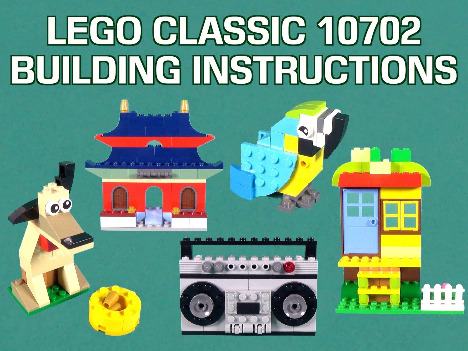 Amazon com: Watch LEGO Classic 10702 Building Instructions