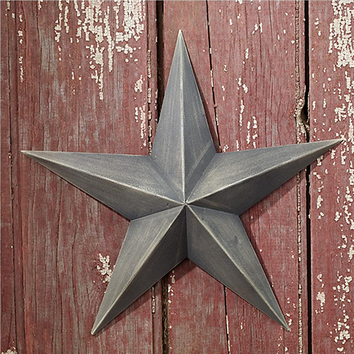 """Country House Vintage Style Indoor Hanging Metal Barn Star (12"""")"""
