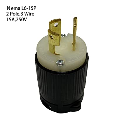Gimax US Nema L6-15P Anti-Drop Industrial Groungding Locking ... on