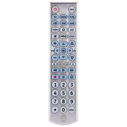 GE Universal Remote Control, Backlit, Big Button, for Samsung, Vizio, Lg,  Sony, Sharp, Roku, Apple TV, RCA, Panasonic, Smart TVs, Streaming Players,