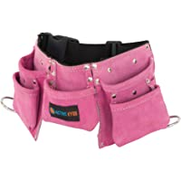 Active Kyds Leather Kids Tool Belt / Child's Tool Pouch for Costumes Dress Up Role Play (Pink)