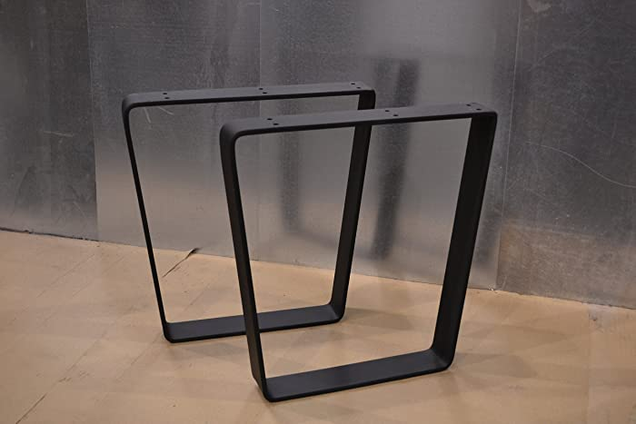 Beau Metal Table Legs, Bent Trapezoid Style   Any Size And Color!