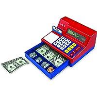 Learning Resources Pretend & Play Caja registradora con calculadora, 73 Piezas