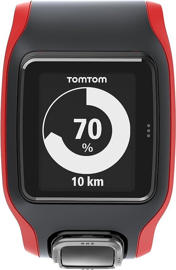 TomTom Runner Cardio - Reloj con GPS para correr, color negro/rojo ...