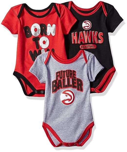 20518b2f8ad Outerstuff NBA NBA Newborn & Infant Atlanta Hawks Little Fan 3pc Bodysuit  Set, Heather Grey
