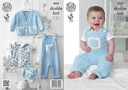 3b05297721f4 King Cole Cuddles DK Double Knitting Pattern Baby Clothes Set ...