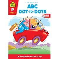 School Zone - ABC Dot-to-Dots Workbook - Ages 3 to 5, Preschool to Kindergarten, Connect the Dots, Alphabet…