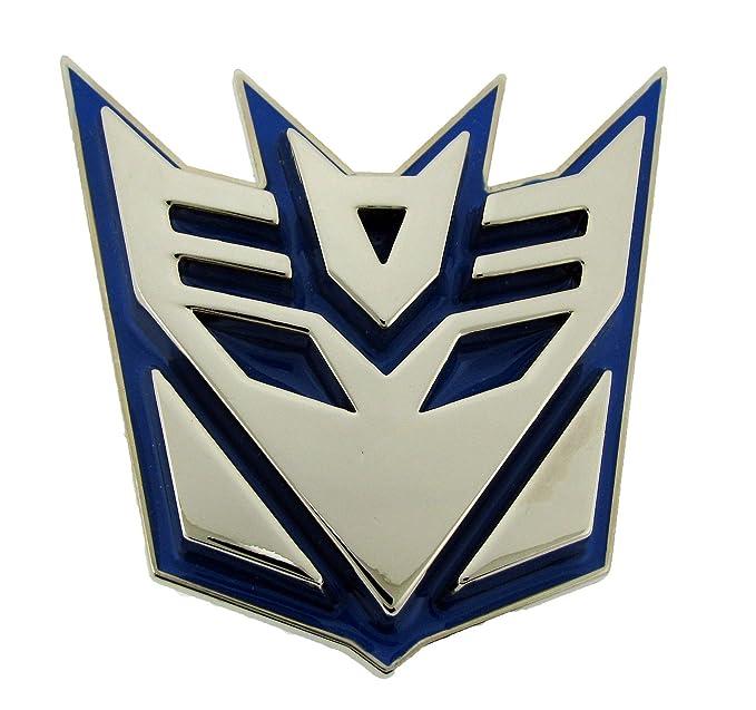 Amazon Transformers Autobots Belt Buckle Blue Decepticon