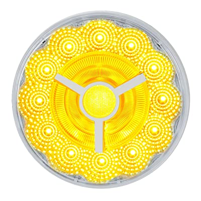 GG Grand General 74871 4 inches Prime Spyder Amber/Clear 17 LED Sealed Light: Automotive