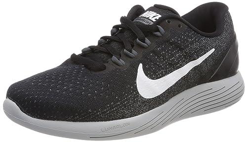 a485ed1a15d0 Nike Men s Lunarglide 9 Running Shoe Black White Dark Grey Wolf Grey Size