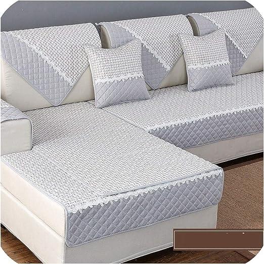 Green Plaid Funda de sofá Cojín de Toalla de sofá Color sólido ...
