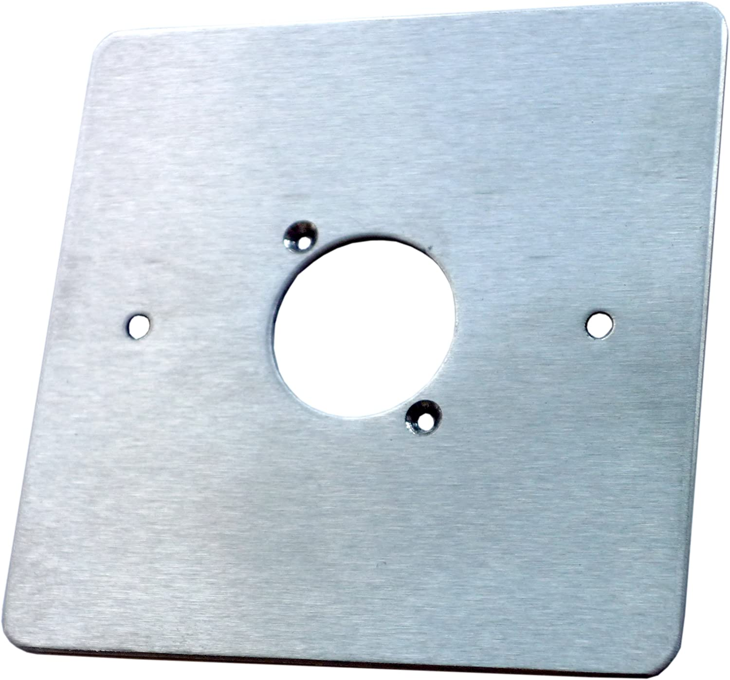 AllMetalParts 1 XLR Single Gang Face Plate Brushed Stainless