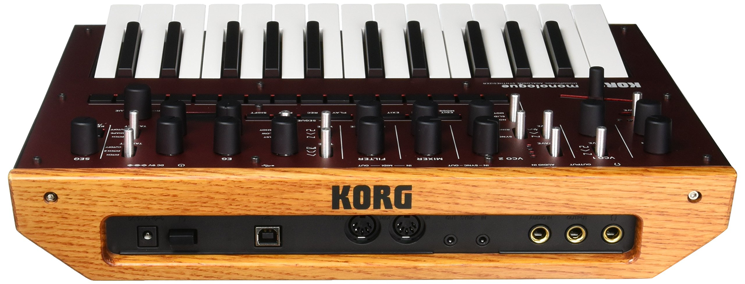 Korg Monologue Monophonic Analog Synthesizer with Presets-Red (MONOLOGUERD) by Korg