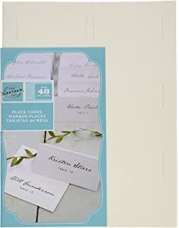 gartner studios pearl ivory place cards 48 count 83004