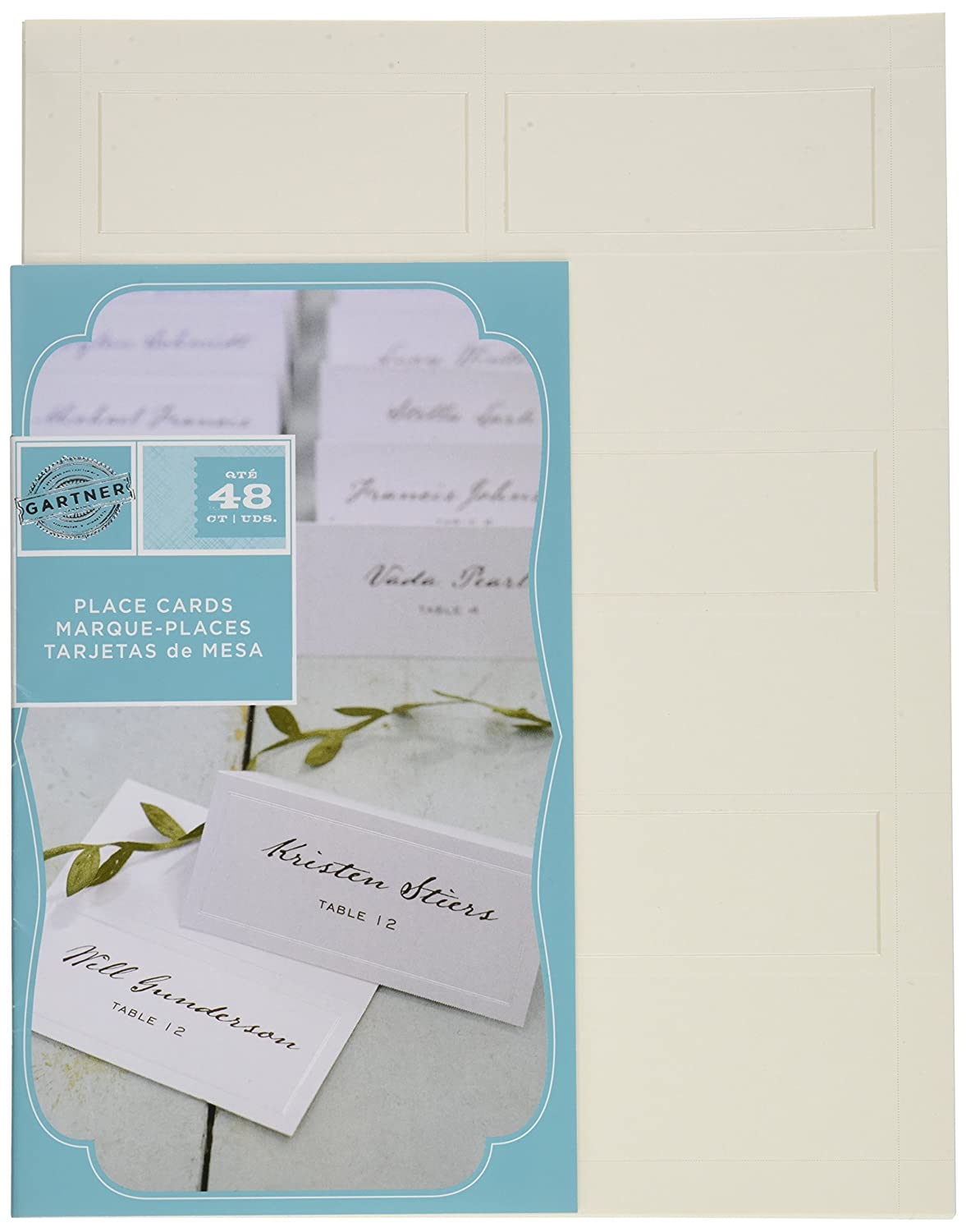 Amazon gartner studios pearl ivory place cards 48 count amazon gartner studios pearl ivory place cards 48 count 83004 office products pronofoot35fo Gallery