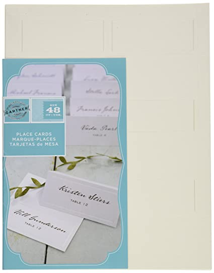 Amazon.com: Gartner Studios Pearl Ivory Place Cards, 48 Count (83004 ...