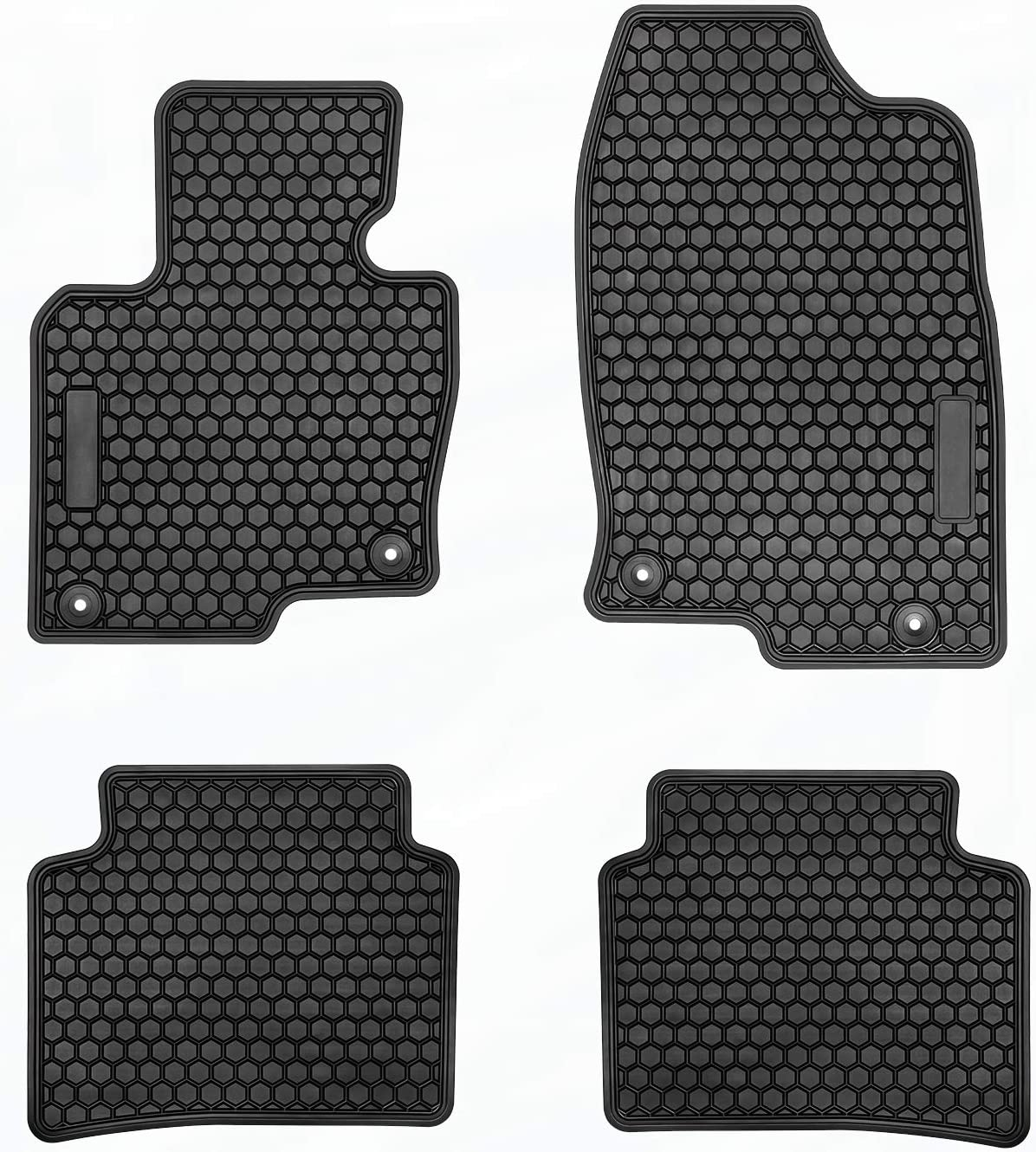 4PCS All Weather Protection TeddyTT Floor Liner Mats Compatible with Mazda CX-5 CX5 2020 2019 2018 2017 Heavy Duty Rubber and Odorless Front Rear Seat Floor Mats Custom fit