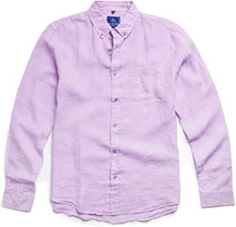 Oliver Jane - Camisa de Playa de Lino para Hombre, Color Lila ...