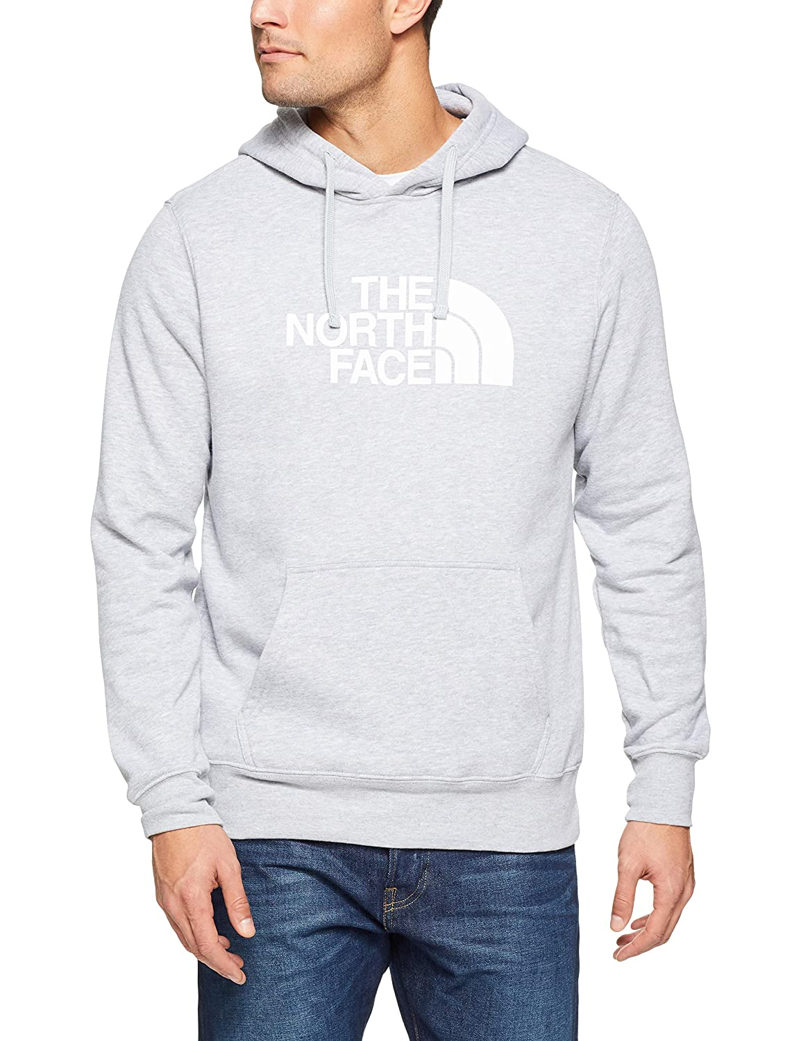 The North Face Men's Half Dome Pullover Hoodie TNF Light Grey Heather & TNF White M