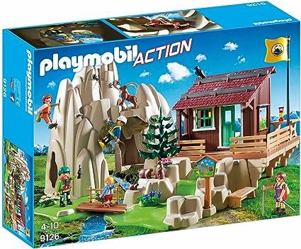 Amazon.com: Playmobil 9126 Escalada Rock con Mountain Hut ...