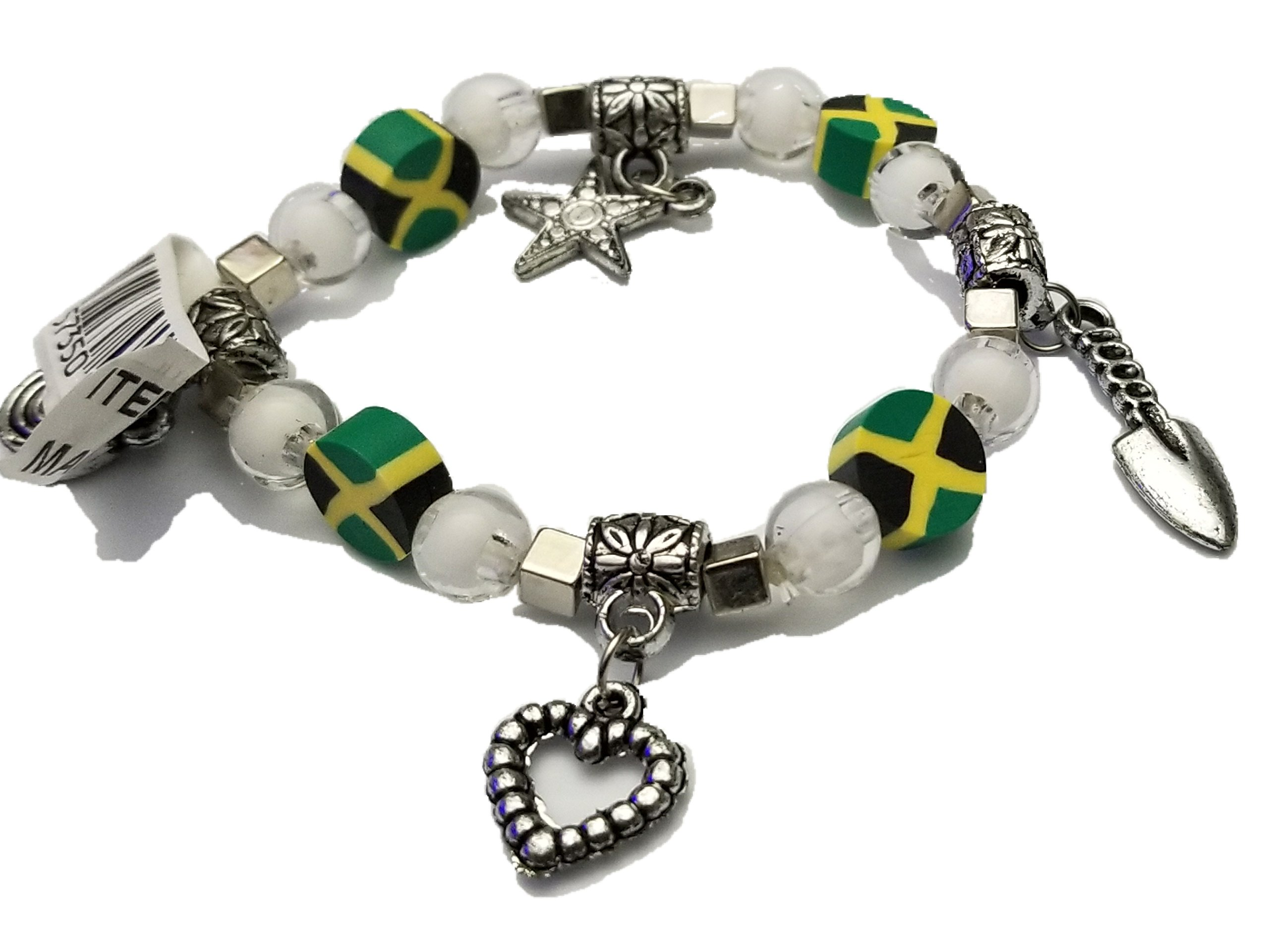 BUNFIREs Women Jamaica Jamaican Flag Bracelets Jewelry (Bracelet Charm) by BUNFIREs (Image #1)