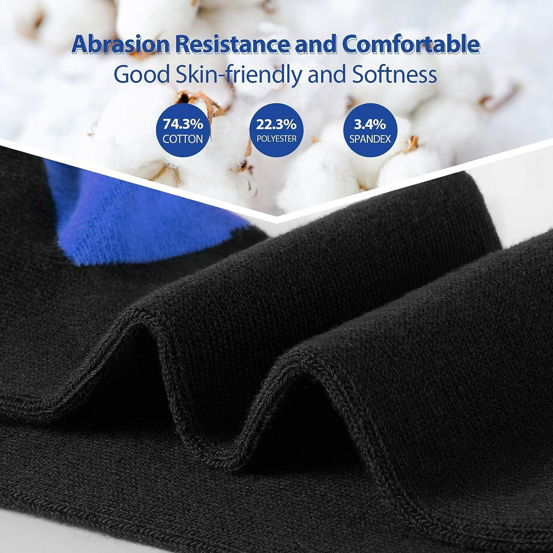 Calcetines tobilleros Transpirable invisible Calcetines Deporte de Algod/ón Colores Divertidos y Negro Newdora 6 Pares de Calcetines Cortos para Hombre