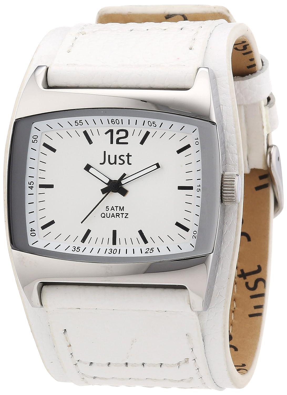 Just Watches 48-S10628-WH - Reloj analógico de Cuarzo para Hombre, Correa de Cuero Color Blanco