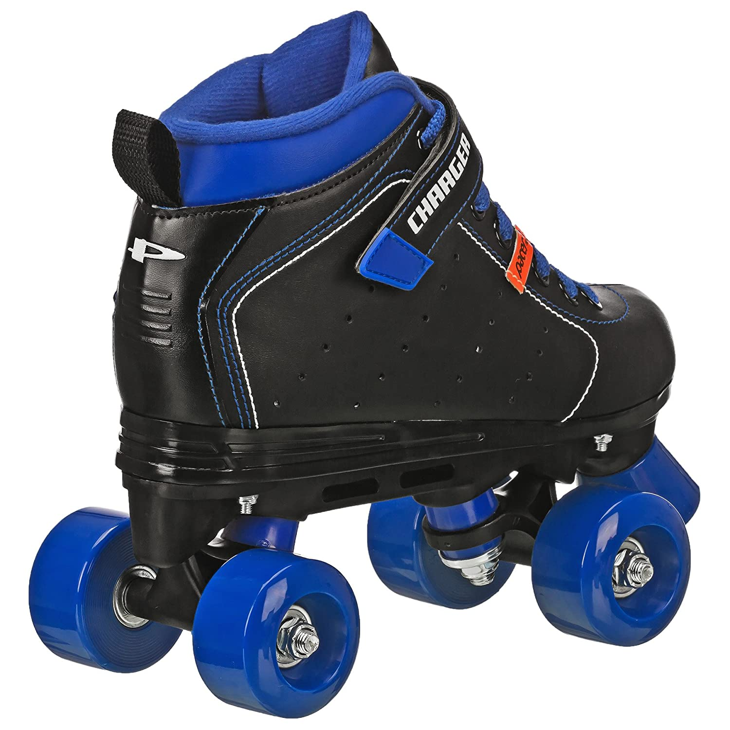 amazon com pacer charger quad roller skate from roller derby