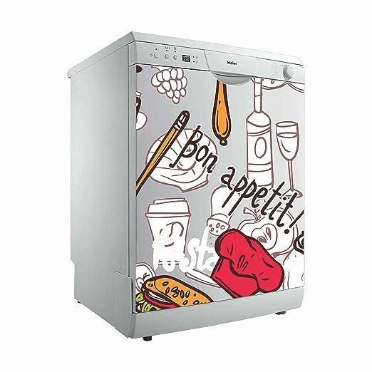 Vinilo para Lavavajillas Bon Appetit ¡ | Varias Medidas 50x48cm | Adhesivo Resistente y de Facil Aplicación | Pegatina Adhesiva Decorativa de Diseño ...