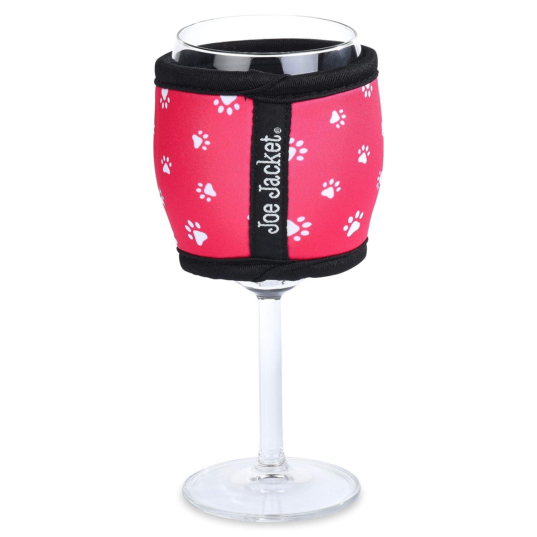 6-pack Joe Jacket Neoprene Wine Glass Insulator Gift Pack Sleeves