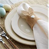 Mud Pie Easter Kitchen Dining Bunny Ears Set of 4 Napkin Rings