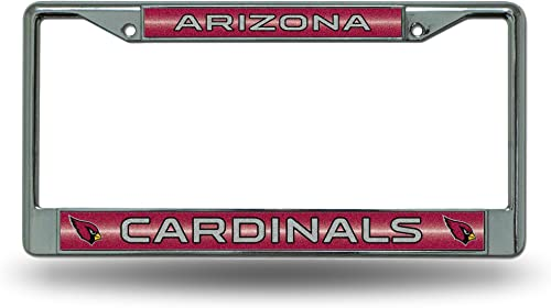 Rico Industries NFL Bling Chrome License Plate Frame with Glitter Accent