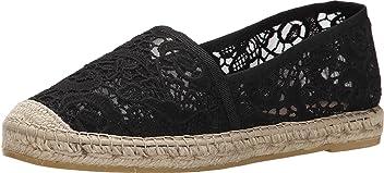 Vidorreta Womens V Lace Closed Toe Slide Flats