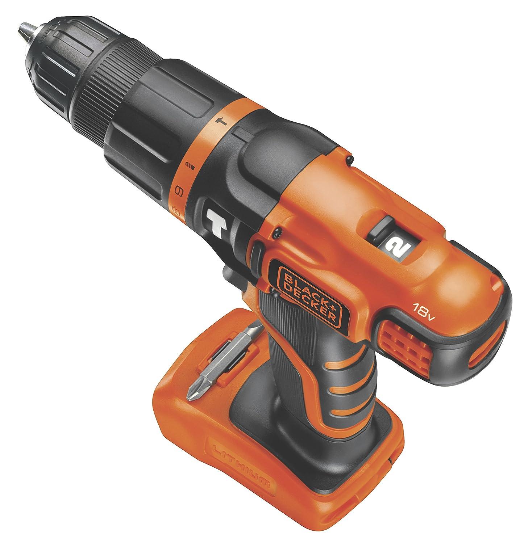 Black & Decker BDCH188N drill Negro, Naranja 1350 RPM - Taladro eléctrico (1350 RPM, 1 cm, 2,5 cm, 28 Nm, 20250 ppm, 1 cm): Amazon.es: Bricolaje y ...