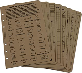 """product image for Rite in the Rain All Weather Tactical Reference Card Set, 4 5/8"""" x 7"""", Tan Sheets (No. 9200T-R)"""