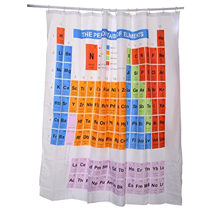 MultiWare Periodic Table Shower Curtain Elements Chemistry ...