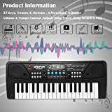 Zest 4 Toyz 37 Key Piano Keyboard Toy with DC Power Option, Recording and Mic (Multicolour)