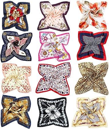 Lista del paquete: El tamaño de la bufanda es de unos 50 cm * 50 cm (largo * ancho) para la mayoría