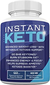 Instant Keto - Advanced Weight Loss with Metabolic Ketosis Support - 800MG - 60 Pills - 30 Day Supply