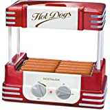 Nostalgia HDR8RR Hot Dog Warmer 8 Regular Sized, 4 Foot Long and 6 Bun Capacity, Stainless Steel Rollers, Perfect For…