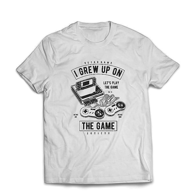lepni.me Camisetas Hombre Vamos a Jugar el Juego, Retro Sociedad de Videojuegos: Amazon.es: Ropa y accesorios