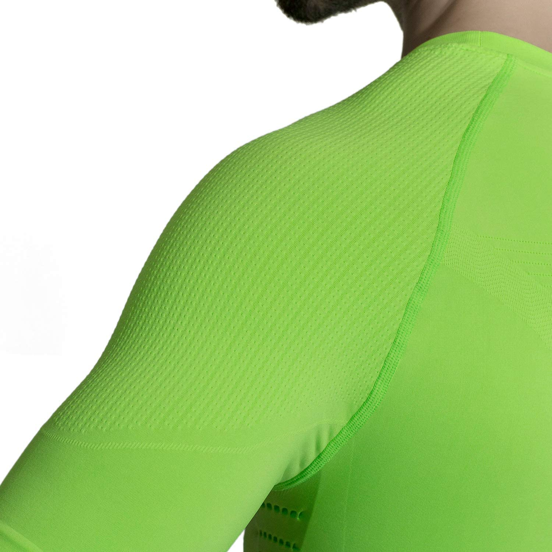 MD Herren Kompression Shirt Basisschicht Kurzarm T-Shirt mit Pulsmesser Brustgurt