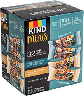 product image for KIND Bar Dark Chocolate Nuts & Sea Salt; Caramel Almond & Sea Salt Gluten Free, Low Sugar Minis Variety Pack,