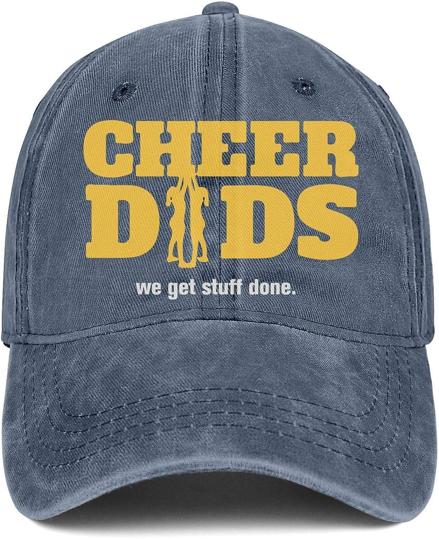 Snapback Hats Cheer Dads We Get Stuff Done Adjustable Designer Sun Cap for Women//Men