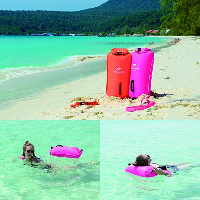 Bolsa hinchable de flotación para natación o como boya salvavidas ...
