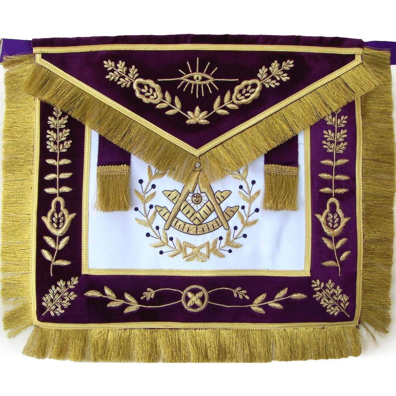 Bricks Masons Masonic Grand Lodge Past マスターエプロン 手刺繍  Lambskin B07JKQNTBV