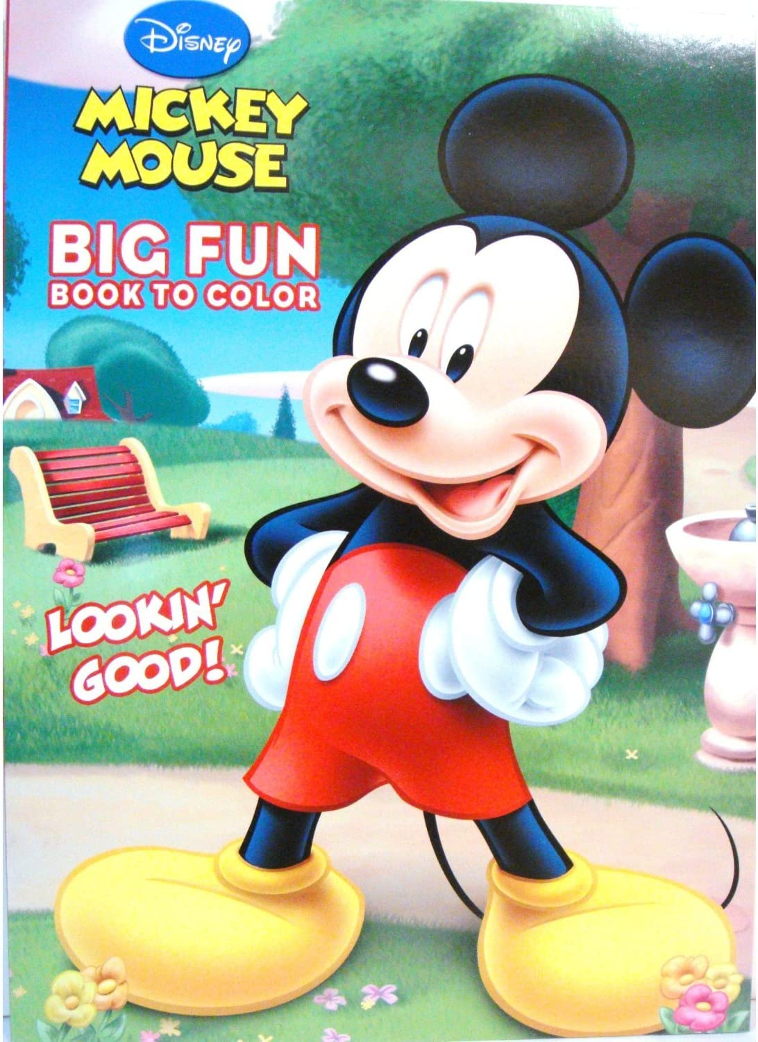 - Amazon.com: Mickey Mouse Big Fun Book To Color - Mickey Mouse