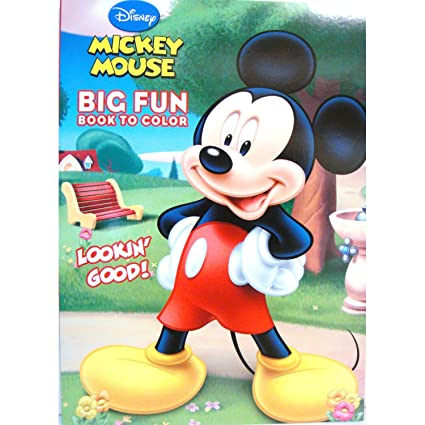 Amazon Com Mickey Mouse Big Fun Book To Color Mickey Mouse