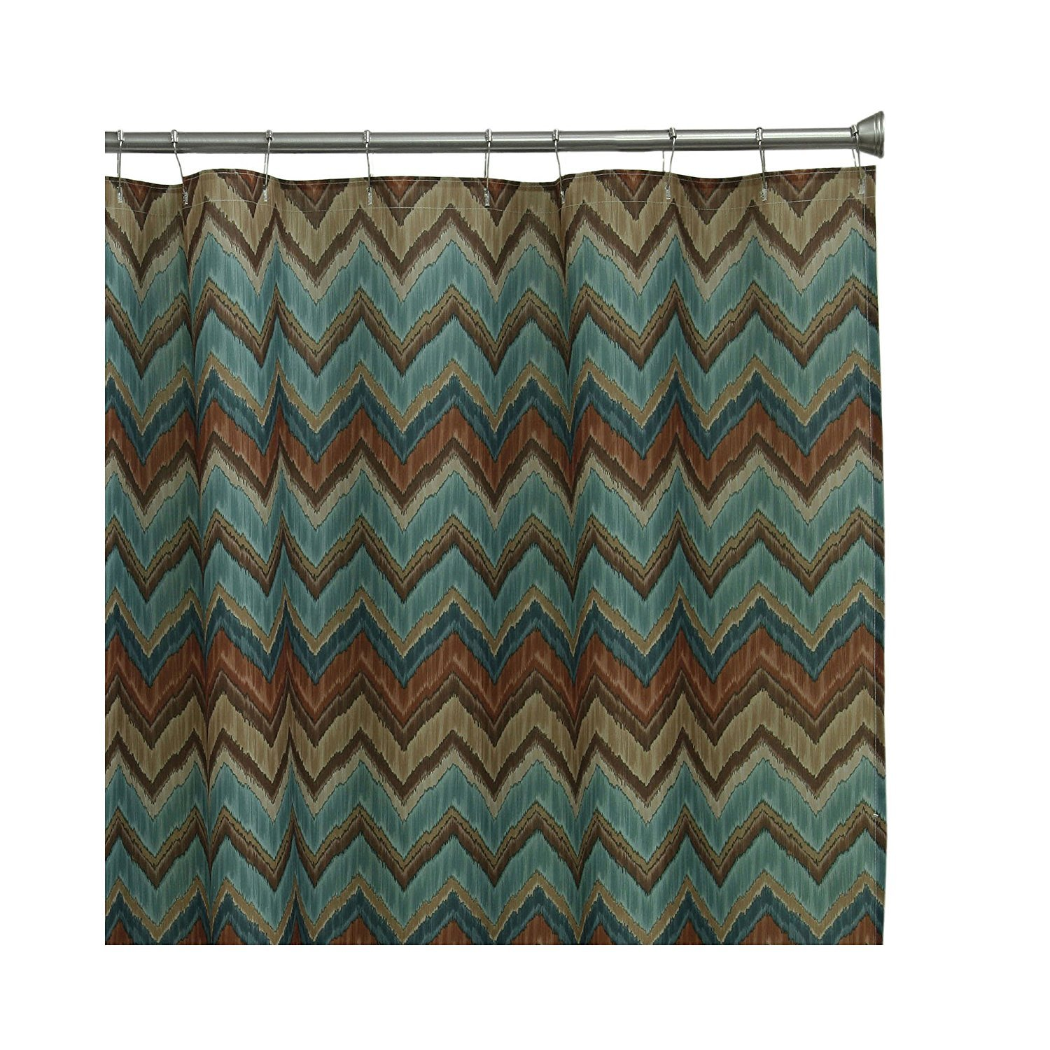Bacova Guild Sierra Zig Zag Teal Shower Curtain